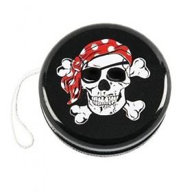 Yoyo noir avec tête de pirate