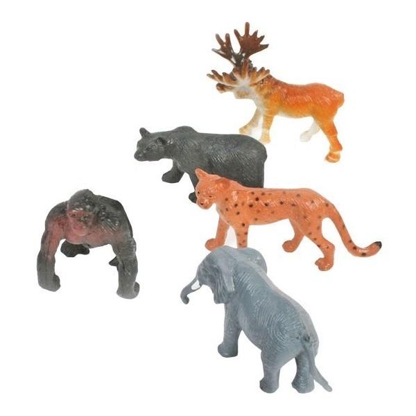 lot de 12 mini Animal sauvage
