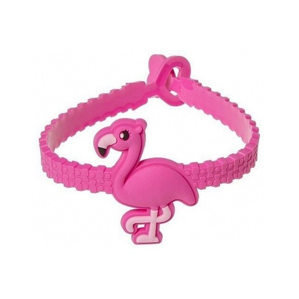 bracelet silicone avec flamant rose