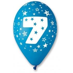 Ballons imprimés chiffre 7