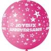 ballon géant couleur fushia