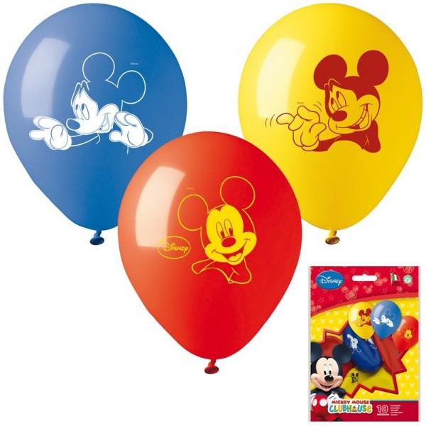 sachet 10 ballons mickey mouse