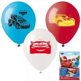 10 ballons à gonfler Cars