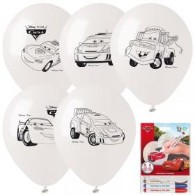 5 Ballons à colorier Cars
