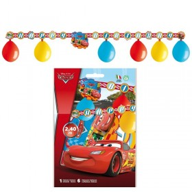 Kit 6 Ballons Cars + 1 Guirlande