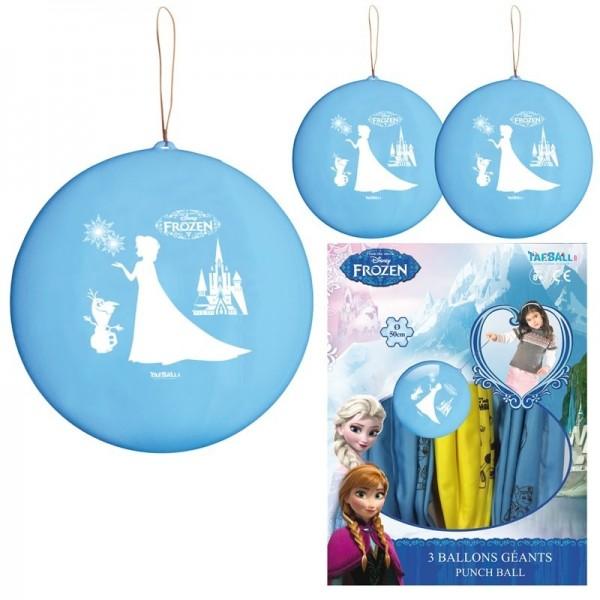 3 Ballons à frapper La reine des neiges