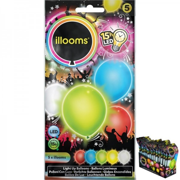 5 Ballons LED Multicolores