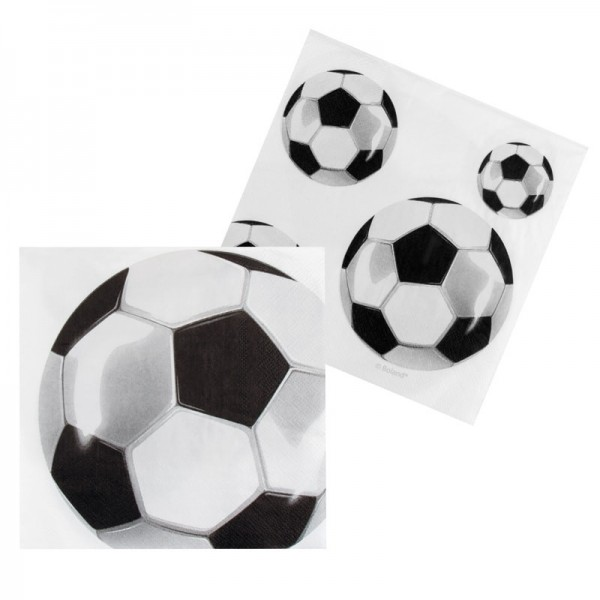12 Serviettes Ballon Football