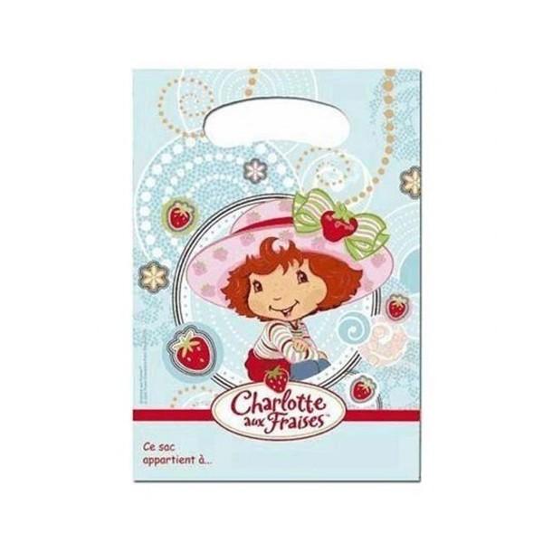 6 Sacs Cadeaux Charlotte aux fraises
