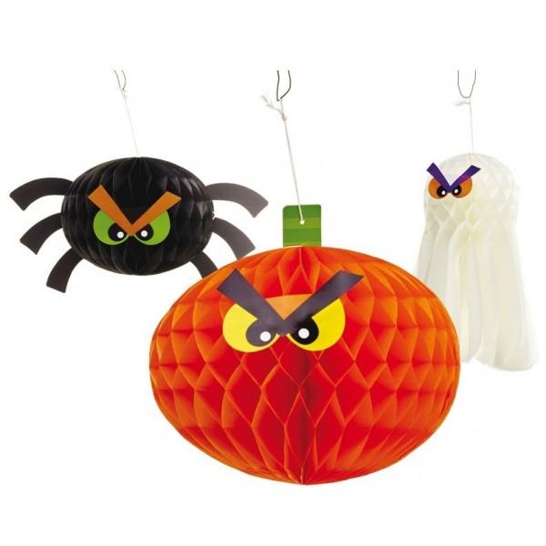 3 Décorations Halloween Papier