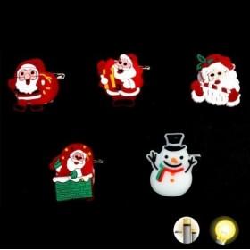Broche Lumineuse Noël et pin's noël