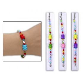 Présentation bracelet perle ourson