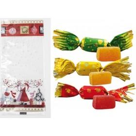 Sachet Garni de Noël avec 10 papillotes aux fruits