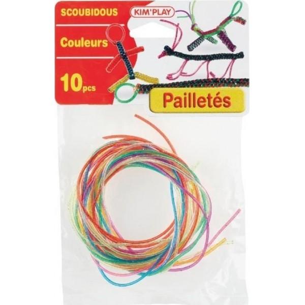 Scoubidous Paillettes 10 brins