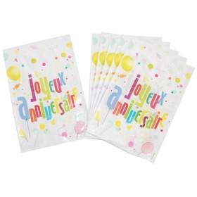 6  sacs de fête Anniversaire pour les petits cadeaux