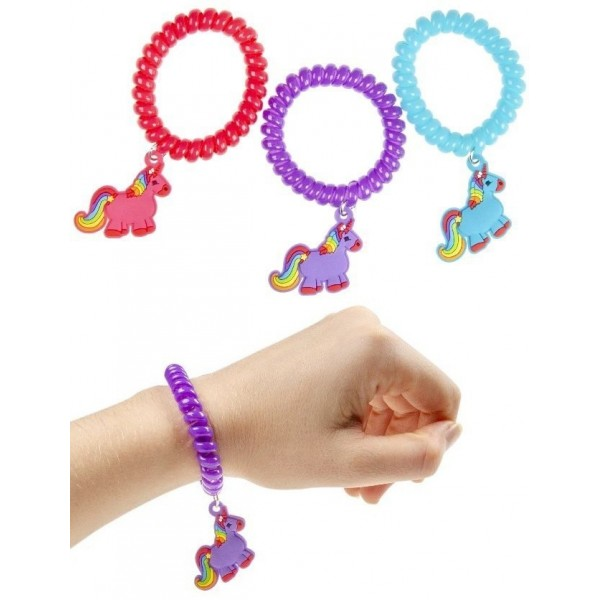 Bracelet ressort avec pendentif licorne