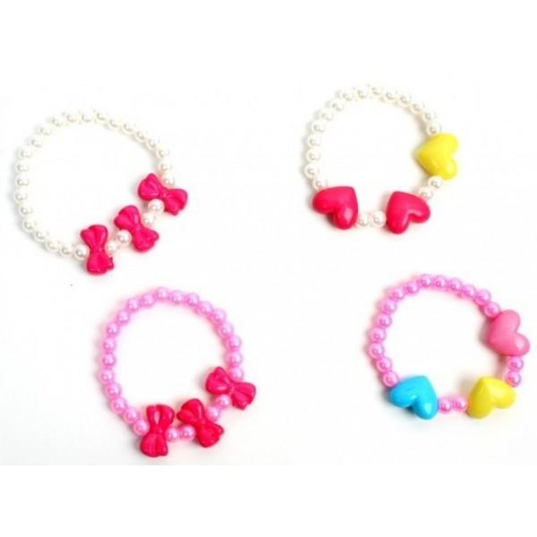 Bracelet Perles Cœurs ou Nœuds