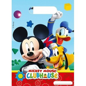 6 Sacs cadeaux Mickey Clubhouse