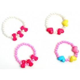 12 Bracelets Perles Cœurs ou Nœuds