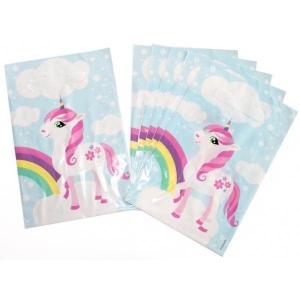 6 sacs de fête Licorne pour les goûters d'anniversaire