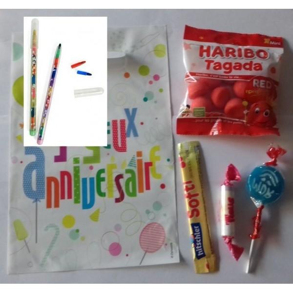 Sachet de fête avec une surprise Crayon pousse mine