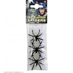 6 Araignées pour Décoration Halloween