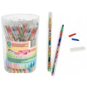 lot de 12 Crayons pousse-mine couleur