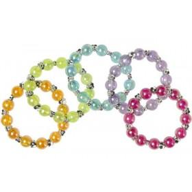 Bracelets avec perles de couleurs unies