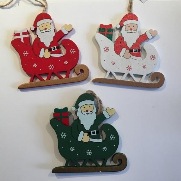 Sujet en bois pour Sapin de Noël