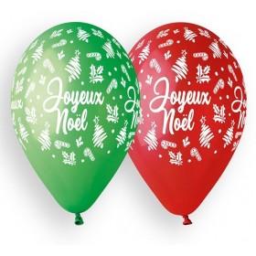 10 Ballons Joyeux Noël