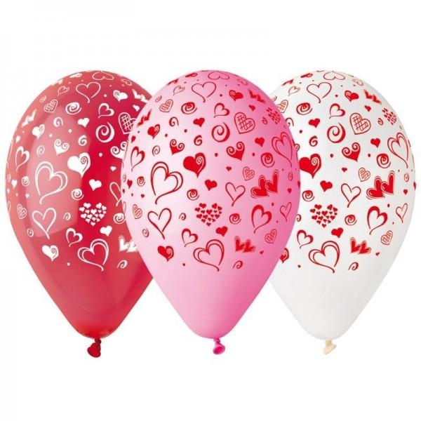 10 Ballons à gonfler Coeurs