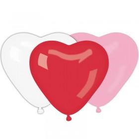 10 Ballons à gonfler forme Coeurs