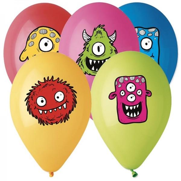 5 Ballons à Gonfler Monster