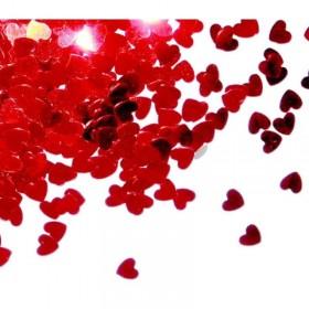 Confettis de table Cœurs Rouges