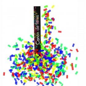 Canon à confettis Rectangle multicolores