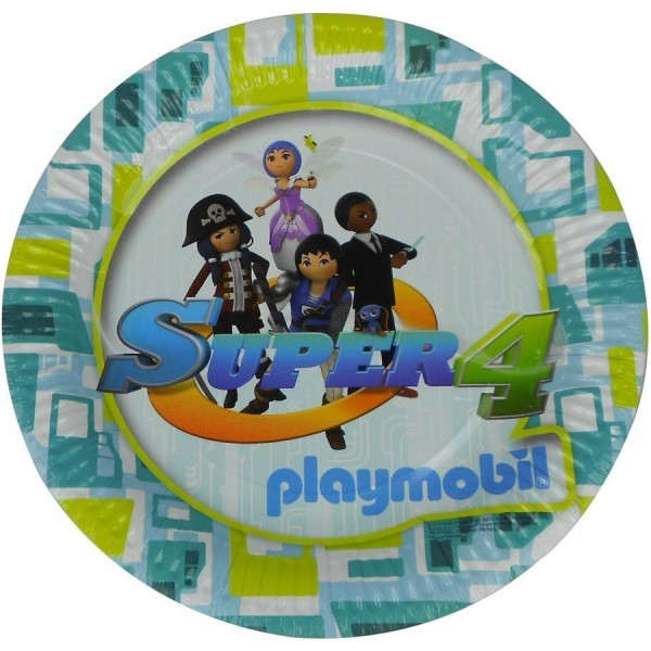 Pack Vaisselle Jetable Playmobil Super 4