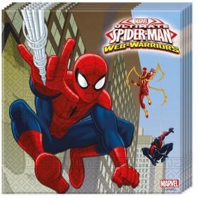 20 Serviettes Spiderman Ultimate