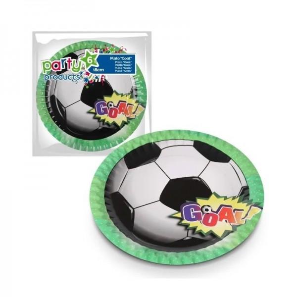 6 Assiettes Football Goal