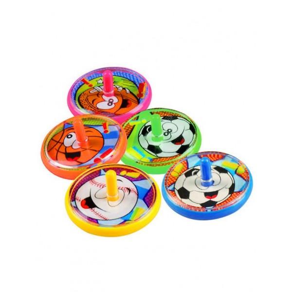 5 Toupies colorées sport
