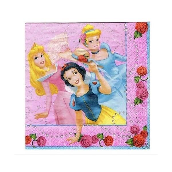 20 Serviettes Les princesses