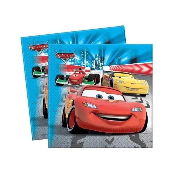 20 Serviettes Cars pour anniversaire