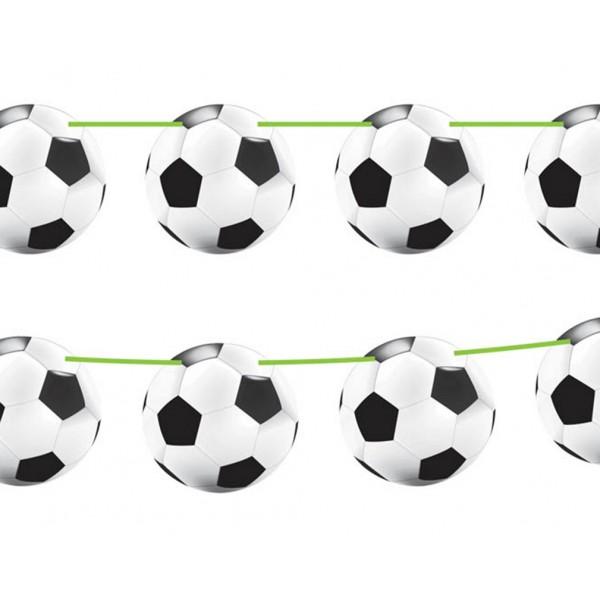 Guirlande avec ballons de foot