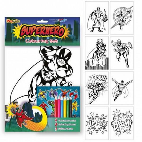 Kit Coloriage Super Héros