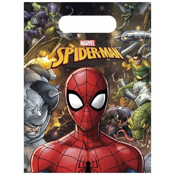 6 sachets de fête Spiderman Marvel®