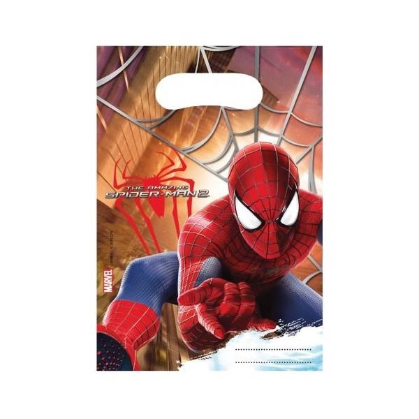 6 Sacs à Cadeaux Spiderman