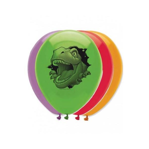 6 Ballons à gonfler Dinosaures