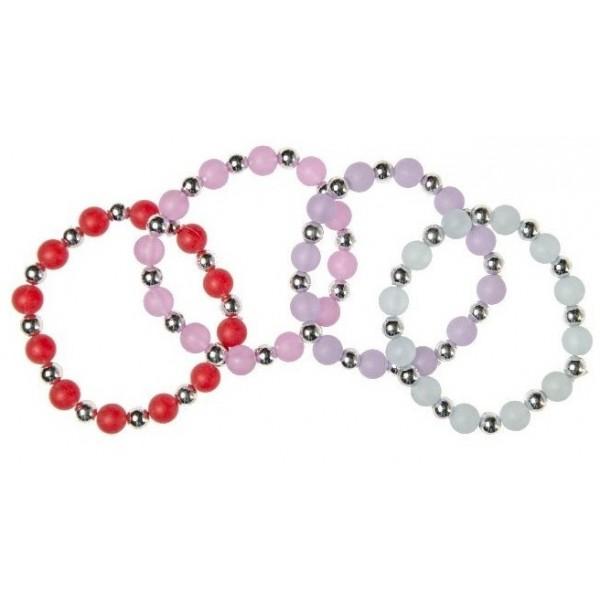 Bracelet avec perles unies